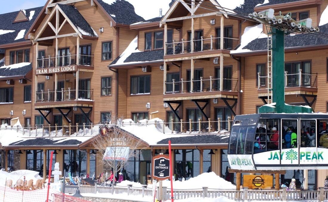large ski resort with gondola lift