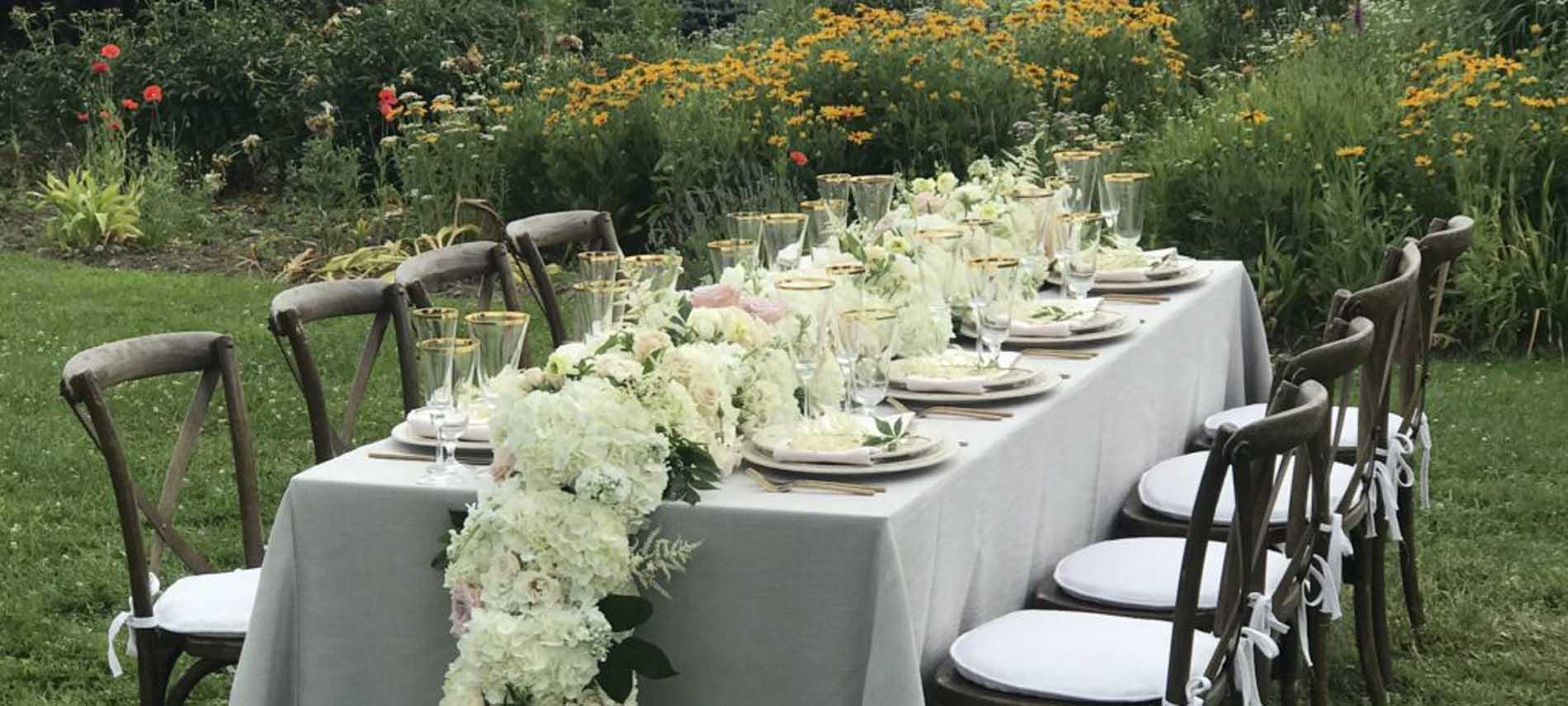 wedding intimate garden table trapp lodge