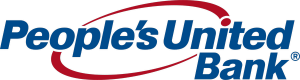 peoples united bank logo blue red swish