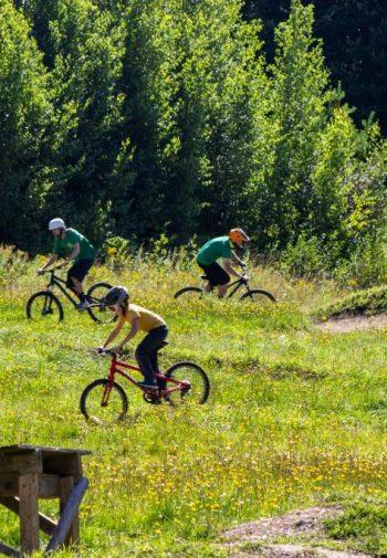 Mountain Biking, Three People, Pump Track
