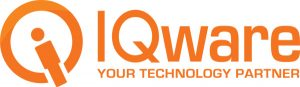 iqware gold and white logo