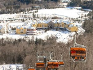 chair lifts, snowy condos