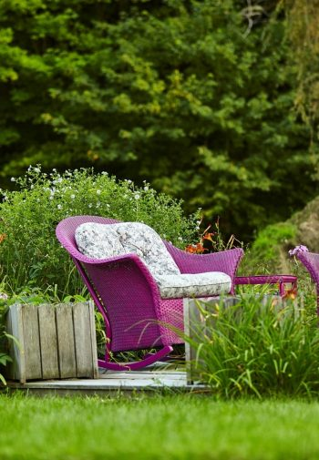 Garden with two rocking chairs